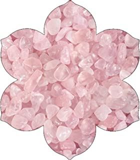 NatureWonders Tumbled Stones and Crystals, Crystal Chips, Rose Quartz (ICY Pink) (4 Cups) for Vase Fillers, Candle Holders, Table Decorations, Wedding Centerpieces, Aquarium, Planter, Crafts, Art