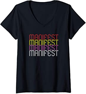 Womens Law of Attraction Visualization Meditation - Manifest V-Neck T-Shirt