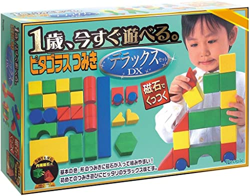 I play just one year old now. Piragorasu Deluxe building block set (japan import)
