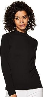 Amazon Brand - Symbol Women's Solid Slim Fit Full Sleeve T-Shirt