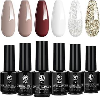Gel Nail Polish, UV/LED Soak off Gel Nail Kit, Nail Polish Gift Set, Manicure Starter Set for Nail Art Salon Design