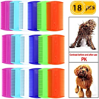 Newbested 18 PCS Pet Combs, Flea Lice Combs, Fine-Toothed Combs, Fine Removal Dandruff Combs, Double Sided Teeth Combs