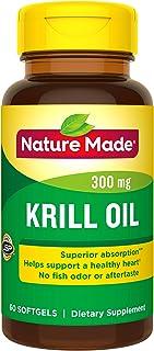 Nature Made 磷虾油软胶囊 300mg,含有Omega-3脂肪酸、EPA、DHA和虾青素,60粒