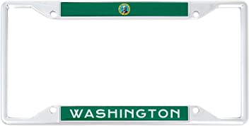 Desert Cactus State of Washington I Heart Love License Plate Frame for Front Back of Car Vehicle Truck