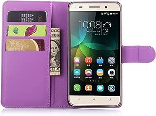 Ycloud Funda Libro para Huawei G Play Mini (Honor 4C), Suave PU Leather Cuero con Flip Cover, Cierre Magnético, Función de Soporte,Billetera Case con Tapa para Tarjetas + 1x Lápiz óptico (Púrpura)