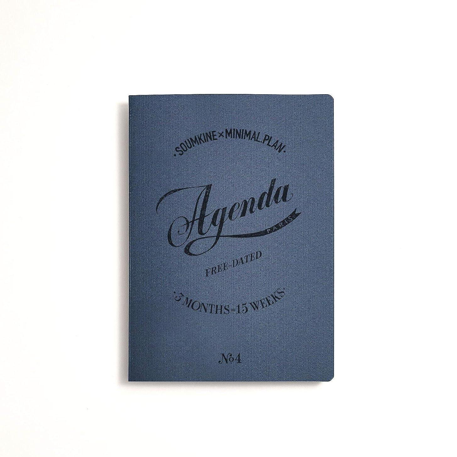暴徒からに変化する落胆したスムキン 手帳 A5 フリープランナー ミニマルプラン コラボノート 2冊セット ネイビー FD1-01-2