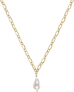 CHOICES Gold Pearl Pendant Necklace | Gold Necklaces for Women