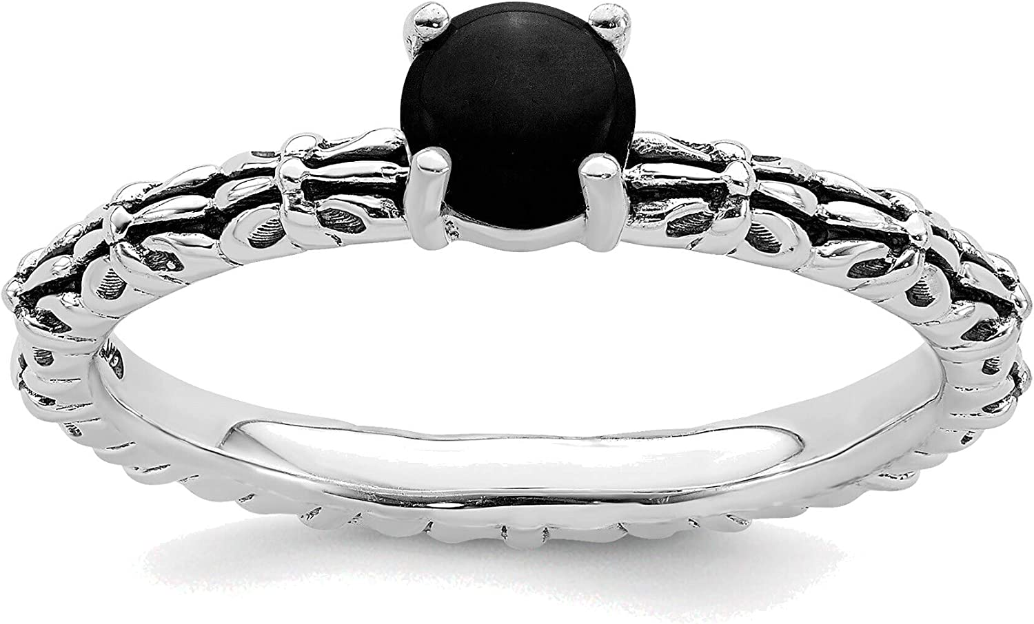 Bonyak Jewelry Solid Sterling Silver Expressions Ranking TOP6 Max 75% OFF Antiq Stackable