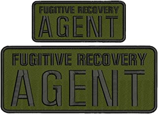 Fugitive Recovery Agent 4x10 and 2.5x6 od Green and Black with Hook on Back