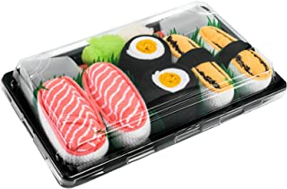 Rainbow Socks, Mujer Hombre Calcetines Sushi Tamago Salmón Maki de Oshinko - 3 Pares