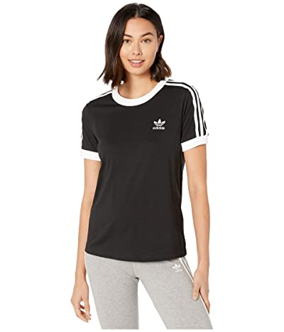 adidas Originals 3-Stripes Tee (Black) Women