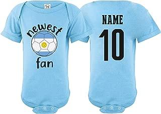 nobrand Argentina Bodysuit Newest Fan National Team Soccer Baby Girls Boys Customized