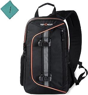 K & F CONCEPT DSLR Kameratasche Rucksack Tasche Schultertasche Stoßfest Wasserdicht mit Objektiv Reinigungsset für Canon Nikon Sony Outdoor Fotografie