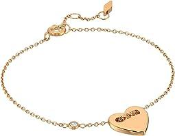 Fossil - Classic Heart Motif Chain Bracelet