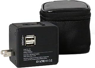 ロジック コンセントPLUSU 海外用 交換アダプター [A/C/O/BF・150ヶ国対応] USB付 マルチ変換プラグ 収納ポーチ付 充電器 スマホ 携帯電話 デジカメ ビデオカメラ ノートパソコン スマホ 充電 タブレット 4タイプのコンセ...