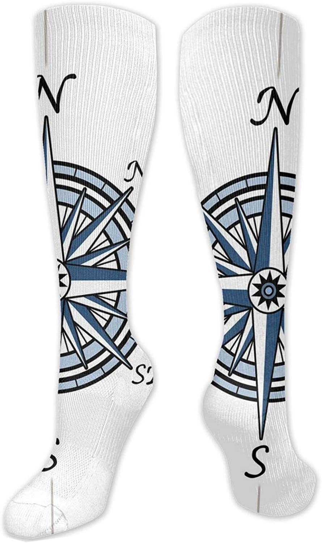 Compression High Socks-Cute Regular Different Sized Japanese Koi Fish Patterns Ocean Marine Underwater Theme Best for Running,Athletic,Hiking,Travel,Flight