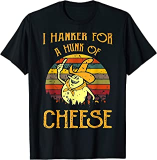 A Hunk Of Cheese Funny Vintage T-Shirt