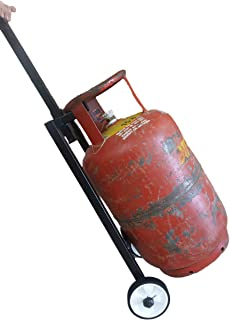 Squarecal Gas Cylinder Trolley with Wheels and Handle   LPG Cylinder Stand Full Metal   Assorted Color