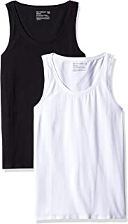 Pact Women's Stretch-fit Tank Top, Scoop Neckline (2 Pack)