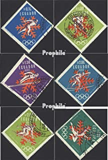 Ecuador 1274-1279 (Complete.Issue.) 1966 Olympics Winter Games 1968 (Stamps for Collectors) Olympic Games