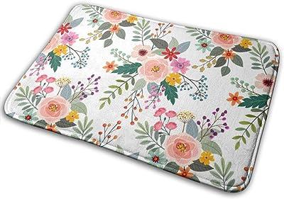 """Colorful Flowers Doormat Front Door Mat Non Slip Door Rug Shoes Scraper Rug Carpet - 23.6"""" x 15.8"""""""