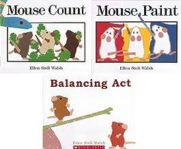 Ellen Stoll Walsh 3 Book Set Mouse Concepts: Balancing Act / Mouse Paint / Mouse Count