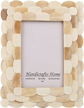Handicrafts Home 4x6 Picture Frame Scalloped Art Inspired Handmade Bone Inlay Gift Photo Frames