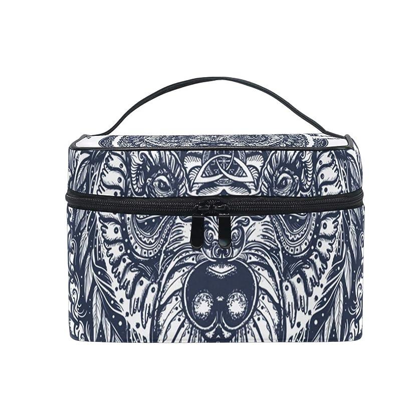 うま製造素朴なメイクボックス 野生動物柄 化粧ポーチ 化粧品 化粧道具 小物入れ メイクブラシバッグ 大容量 旅行用 収納ケース