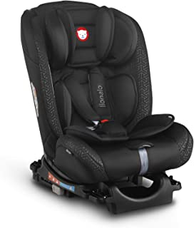 Lionelo Sander Black Baby Car Seat For weight Range - 0Kg To 36 Kg Safety with Comfort, Extra Head Bump Protection Cushion