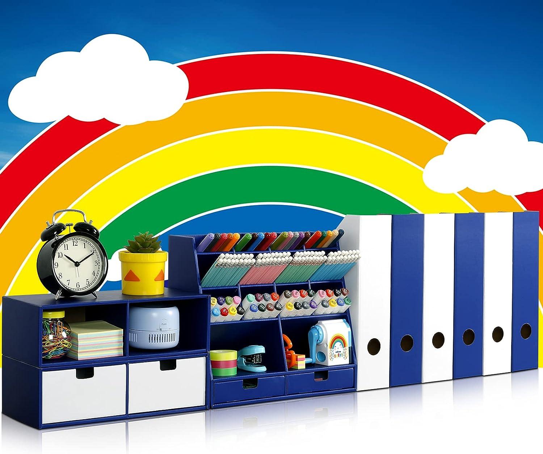 Desk Organizer Set with shopping 6 Holder Magazine specialty shop File 4 Drawe