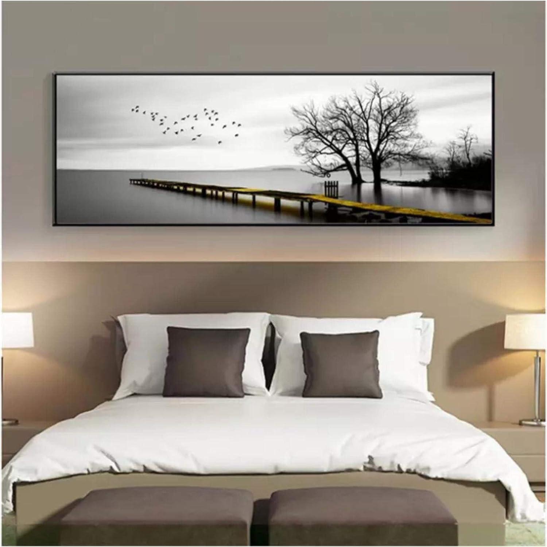 Wall Art PIPAO Black White Paintings オリジナル Tree Landscape 直送商品 Po Bird