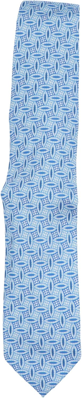 E.Marinella Men's Navy/White Light Blue Archivio Tie Necktie