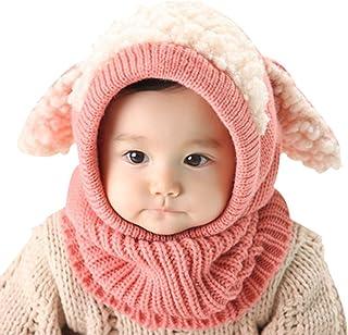 Yuson Girl Inverno del Bambino delle Ragazze dei Capretti dei Ragazzi di Lana Caldo Coif Hood Sciarpa ricopre i Cappelli
