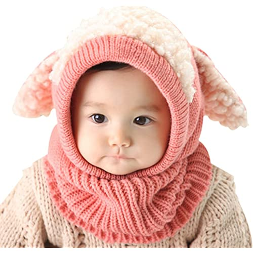 d8c52f043e5 Tuopuda Baby Girls Boys Toddler Winter Hat Scarf Set Cutest Earflap Hood  Warm Knit Hat Scarves