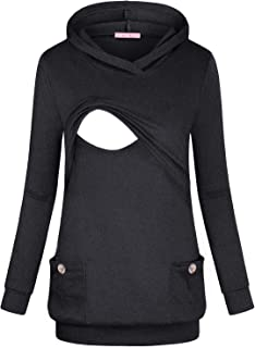 Maternity Nursing Hoodie Breastfeeding Shirt Fulfilled by Amazon