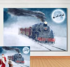 Christmas Snowflake Background for Family Holiday Party Photography Polar Express Photo Xmas Santa Claus Birthday Theme Party Decoration Backdrops Cake Table Banner Studio Props Booth 7x5ft