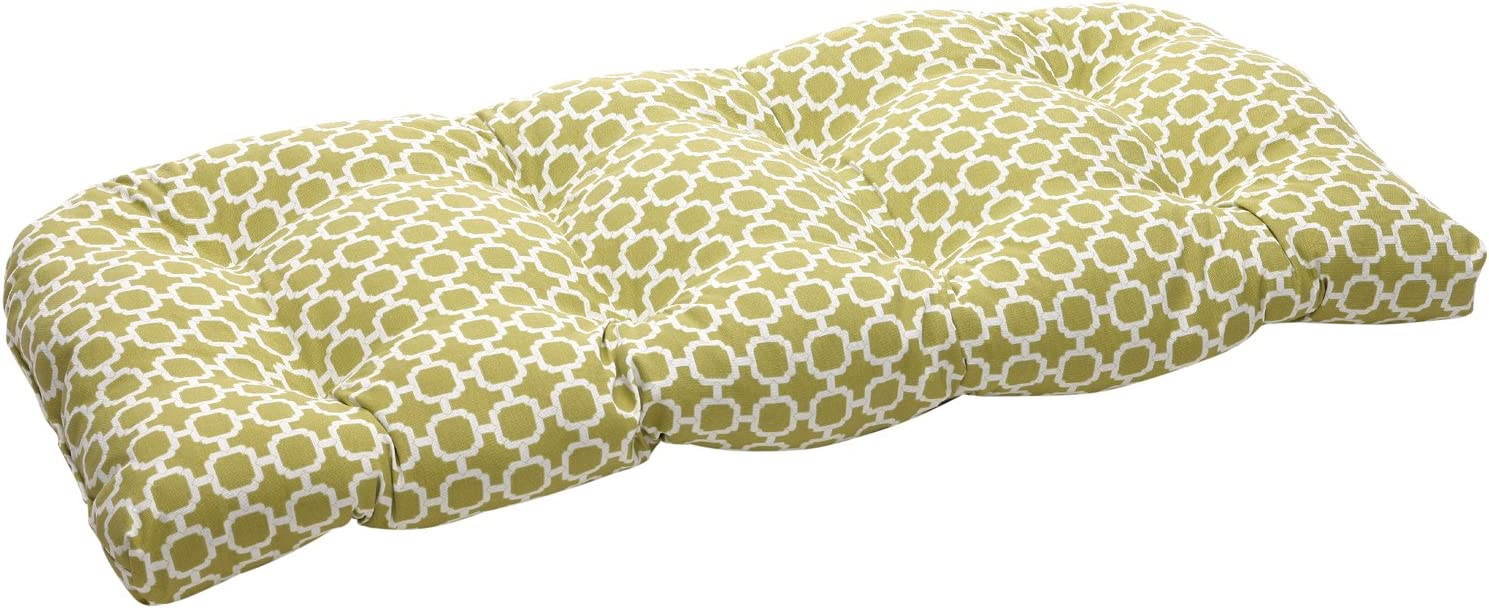 Pillow Perfect Outdoor Indoor Hockley Cushi Loveseat Bargain sale Tufted Max 72% OFF Pear