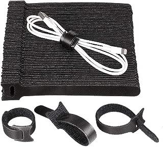 1.2 Dokpav 50 piezas Tiras de Organizar Cables 5 Colores 15 cm Ajustables Ataduras de Cables Bridas Cable Ties Reusable