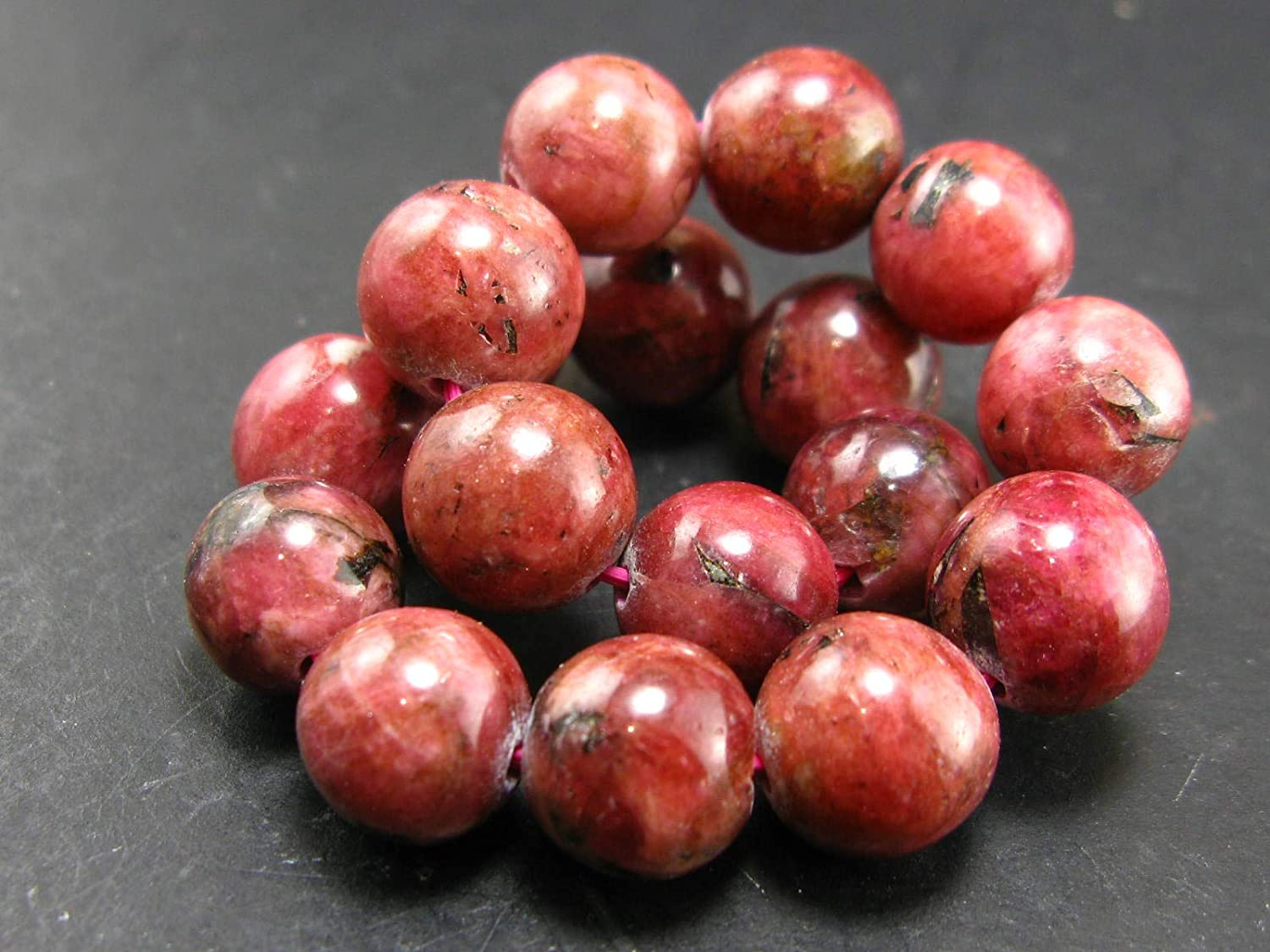 Eudyalite Bracelet From Fort Worth Mall Canada - Round Beads 11mm Surprise price 7