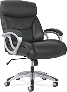 HON BSXVST341 Sadie Big and Tall Leather Executive Chair, High-Back Computer/Office Chair, Black (HVST341)