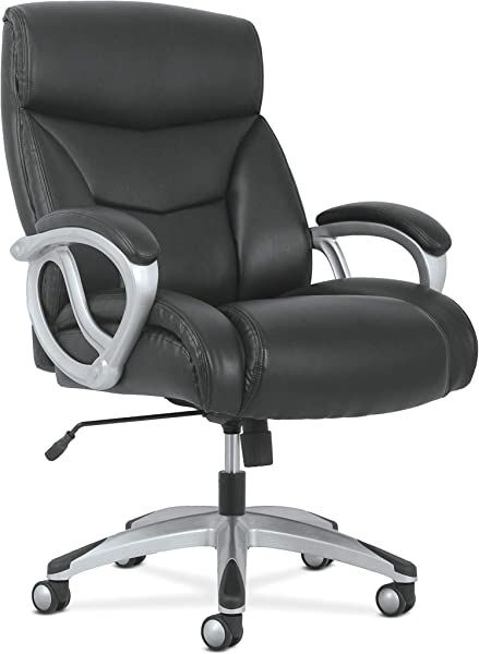 HON BSXVST341 Sadie Big And Tall Leather Executive Chair High Back Computer Office Chair Black HVST341