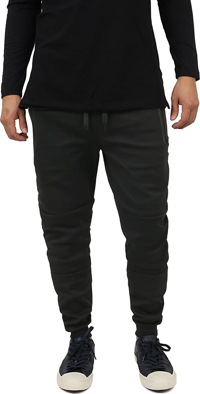 Hat and Beyond Mens Jogger Pants Active Fleece Elastic Drawstring Hipster Slim Fit Trousers jfnyg2881