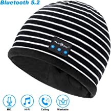Bluetooth Beanie Hat, Wireless Bluetooth 5.2 Music Beanie Headphones for Men Women,Built-in HD Stereo Speakers & Microphone for Winter Fitness Outdoor Sports