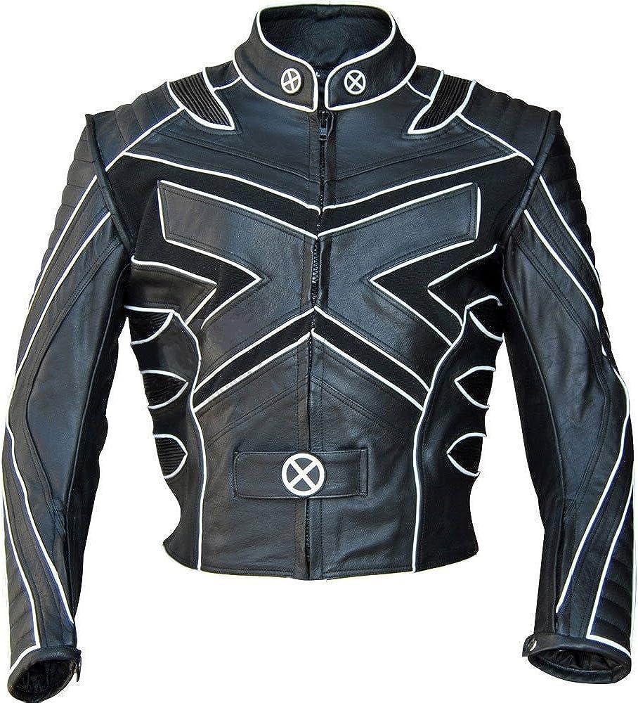 SleekHides Men's Fashion Moto Slimfit Leather Jacket