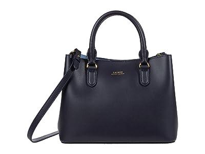 LAUREN Ralph Lauren Marcy II Satchel (Lauren Navy/Blue Mist) Handbags