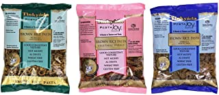 Tinkyada Gluten-Free Brown Rice Pasta 3 Shapes Variety Bundle, 1 Each: Fusilli, Vegetable Rotini, and Shells (12-16 Ounces)