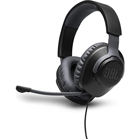 Jbl Quantum 100 Cuffie Gaming Over-Ear Con Filo, Headset Da Gioco Con Microfono Boom Direzionale Rimovibile, Compatibilità Multipiattaforma Pc E Console, Colore Nero