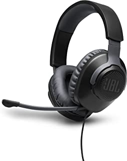JBL Quantum 100 Wired Over-Ear Gaming Headphone, Black