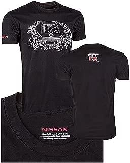 NISSAN GTR Engine T-Shirt Black - Large