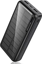 Portable Charger 30,000mAh-Minrise Power Bank Solar Charger Solar Power Bank with 2 USB Outputs, External Battery Pack for...